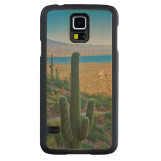 USA, Arizona. View From The Entrance To Tonto Carved Maple Galaxy S5 Slim Case