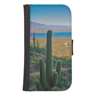 USA, Arizona. View From The Entrance To Tonto Galaxy S4 Wallet Case
