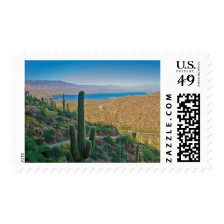 USA, Arizona. View From The Entrance To Tonto Postage Stamps