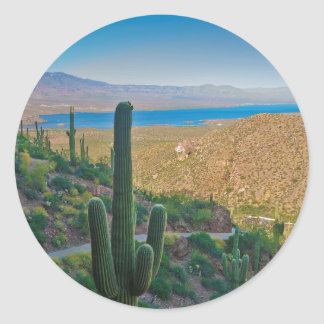 USA, Arizona. View From The Entrance To Tonto Stickers