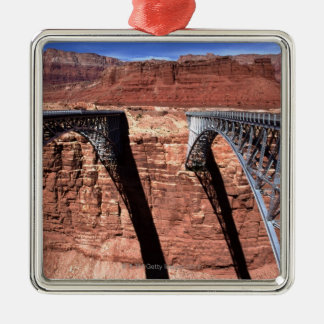 USA, Arizona, View of Navajo Bridge in Grand Metal Ornament