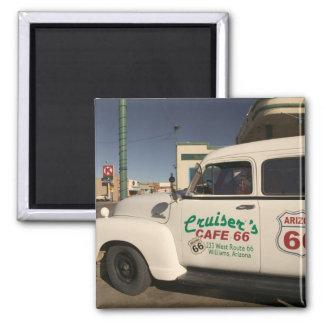 USA, Arizona, Williams: Cruisers Cafe 66 Old 2 Inch Square Magnet
