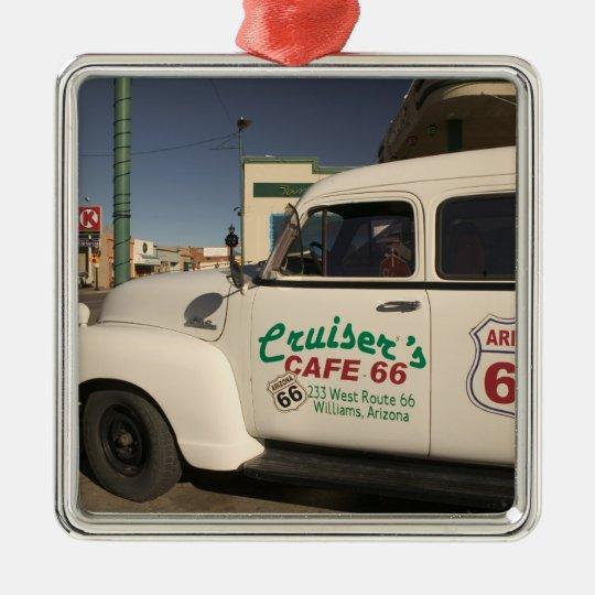 USA, Arizona, Williams: Cruisers Cafe 66 Old Metal Ornament