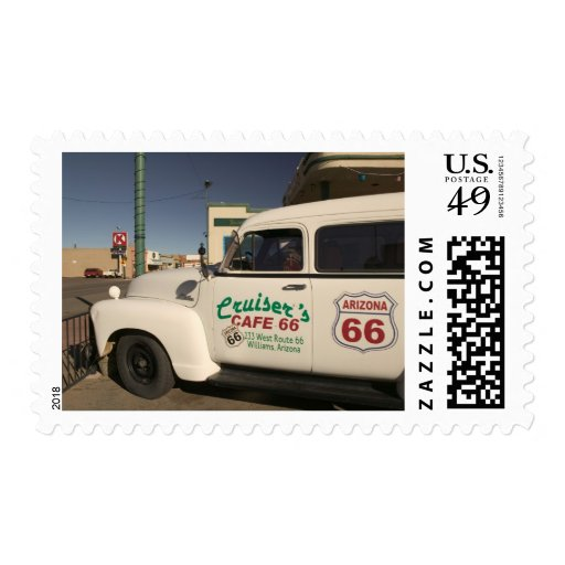 USA, Arizona, Williams: Cruisers Cafe 66 Old Stamps