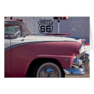 USA, Arizona, Williams. Rt. 66 Town, 1950's Card