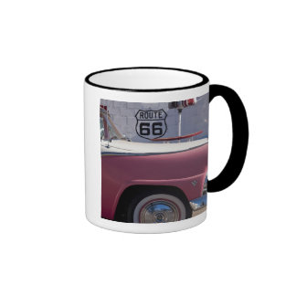 USA, Arizona, Williams. Rt. 66 Town, 1950's Ringer Coffee Mug