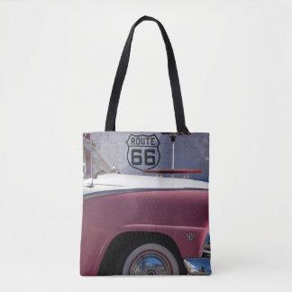 USA, Arizona, Williams. Rt. 66 Town, 1950's Tote Bag