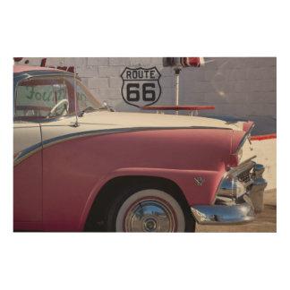 USA, Arizona, Williams. Rt. 66 Town, 1950's Wood Wall Art