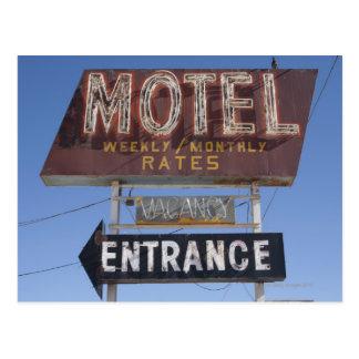 USA, Arizona, Winslow, Old-fashioned motel sign Postcard