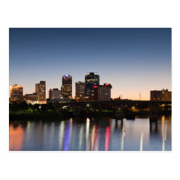 USA, Arkansas, Little Rock, City Skyline Postcard