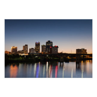 USA, Arkansas, Little Rock, City Skyline Poster