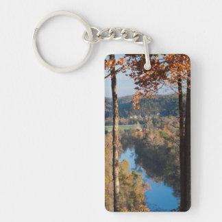 USA, Arkansas, War Eagle, Hobbs State Park Double-Sided Rectangular Acrylic Keychain