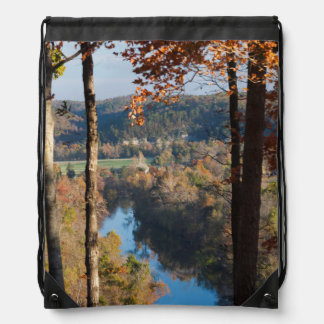 USA, Arkansas, War Eagle, Hobbs State Park Drawstring Bags