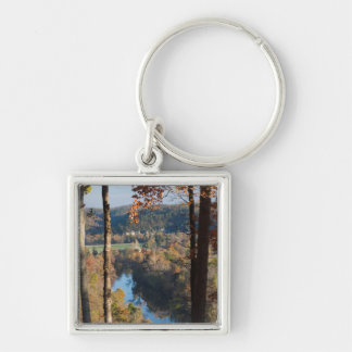 USA, Arkansas, War Eagle, Hobbs State Park Silver-Colored Square Keychain