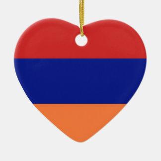 USA & Armenia Flag Heart Ornament Ceramic Heart Ornament