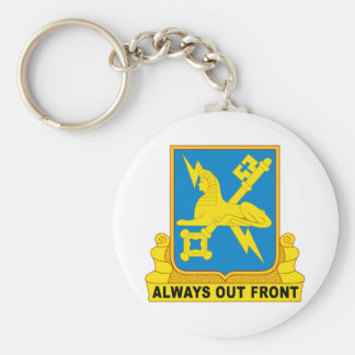 USA Army Military Intelligence Insignia Basic Round Button Keychain