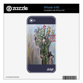 USA art 2 iPhone 4S Decal
