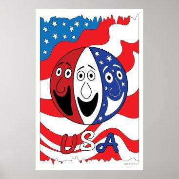 USA Themed USA Art Print