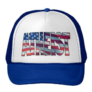 USA ATHEIST TRUCKER HAT