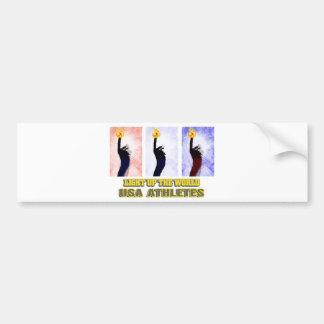 USA Athletes Light Up The World Bumper Stickers