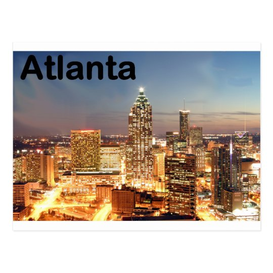 USA atlanta Downtown at night (St.K) Postcard