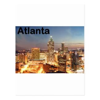 USA atlanta Downtown at night (St.K) Post Cards