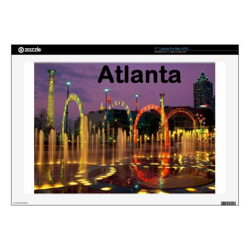 "USA Atlanta (St.K) Decal For 17"" Laptop"