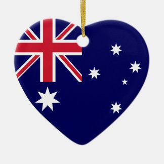 USA Australia Flag Heart Ornament