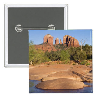 USA, AZ, Cathedral Rocks at Red Rock Crossing Pinback Button
