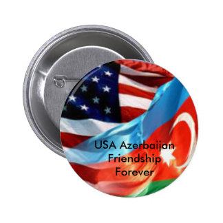 USA Azerbaijan Friendship Forever Pinback Buttons