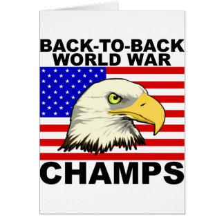 USA:  Back To Back World War Champs Card