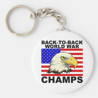 USA:  Back To Back World War Champs Keychain