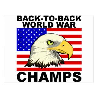 USA:  Back To Back World War Champs Postcard
