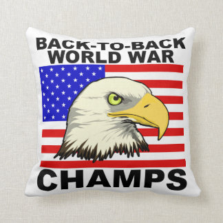 USA:  Backt to Back World War Champs Pillow