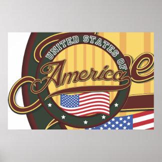 USA Badge Poster