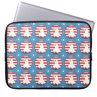 USA bald eagle pattern Laptop Sleeve