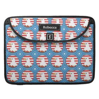 USA bald eagle pattern MacBook Pro Sleeve