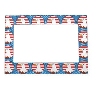 USA bald eagle pattern Photo Frame Magnets