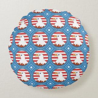 USA bald eagle pattern Round Pillow