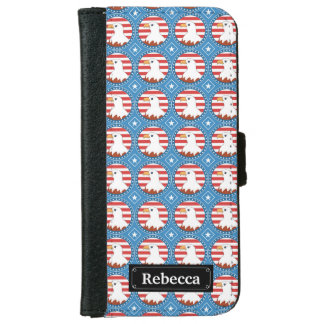 USA bald eagle pattern Wallet Phone Case For iPhone 6/6s