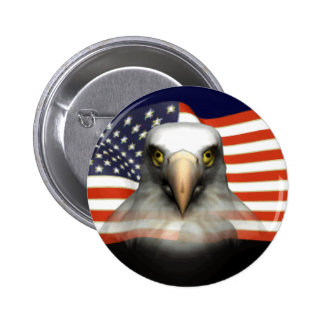 USA Bald Eagle Pinback Button