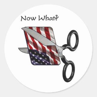 USA Bankrupt Sticker