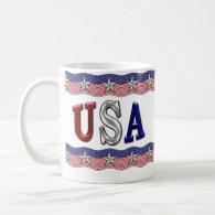 USA Banner Mugs