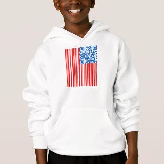 USA Bar Code Flag Hoodie