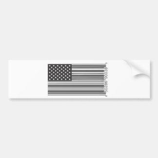 USA Barcode Car Bumper Sticker