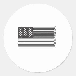 USA Barcode Classic Round Sticker