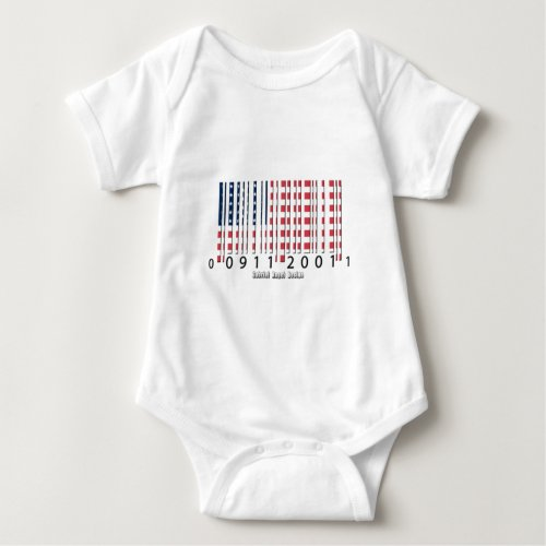 USA Barcode Flag Baby Bodysuit