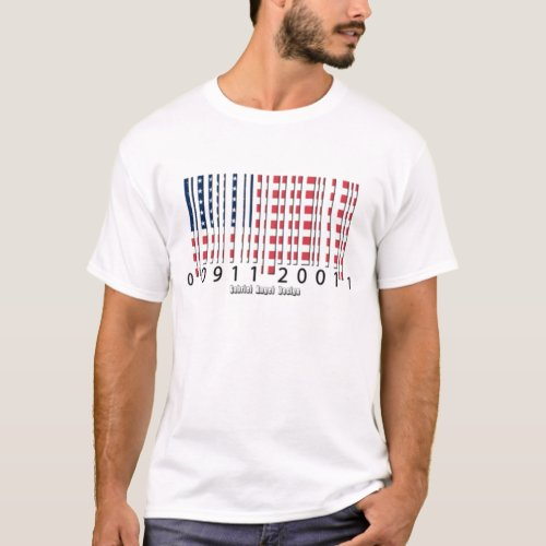 USA Barcode Flag T_Shirt