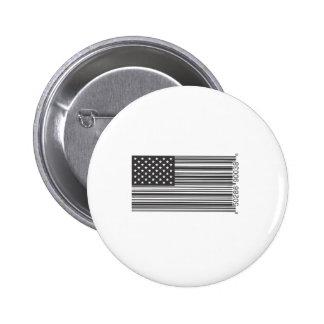 USA Barcode Pinback Button