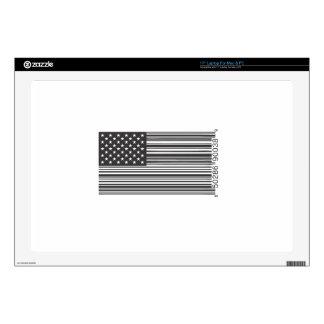 """USA Barcode 17"""" Laptop Skin"""
